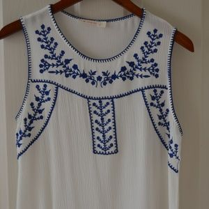 EUC Sleeveless Embroidered Top